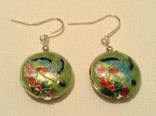Cloisonne bead earrings